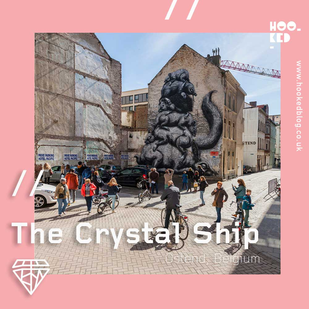 Ostend Street Art festival, The Crystal Ship returns to the city for the fourth time