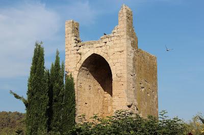 Torre Oeste del recinto fortificado de Peratallada