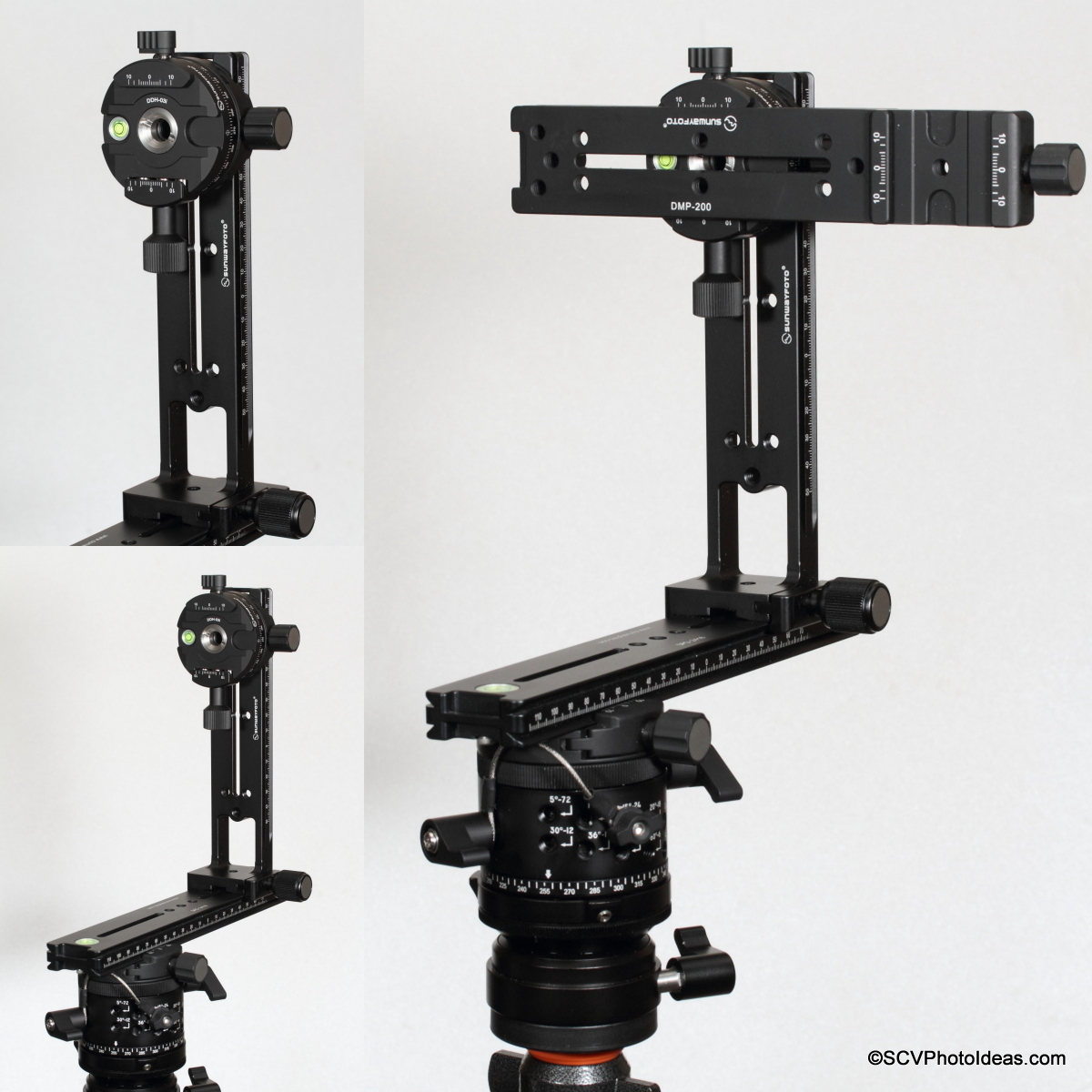 Sunwayfoto DDH-03i /2014 Panning Clamp on Sunwayfoto Pano-3 panoramic head