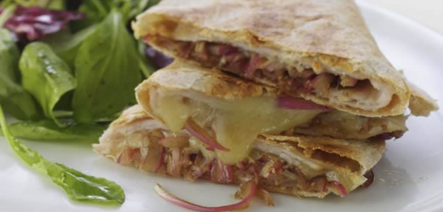 9sp - Turkey & Balsamic Onion Quesadillas | weight watchers