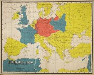 Karta Evropy 1939 God Karta