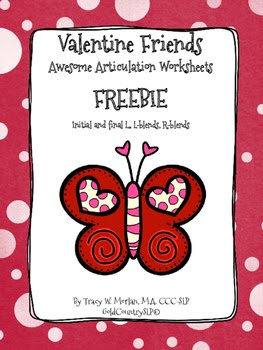 Valentine's Day freebies for SLPs