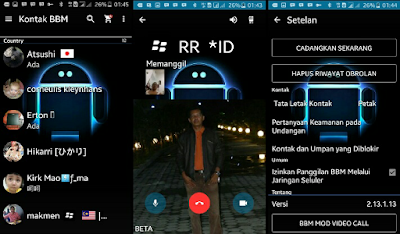 BBM CLONE TRANSPARAN Full v2.13.1.13 Video Call (VC)