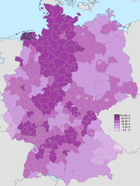 germany distribution evangelical population 2011 census