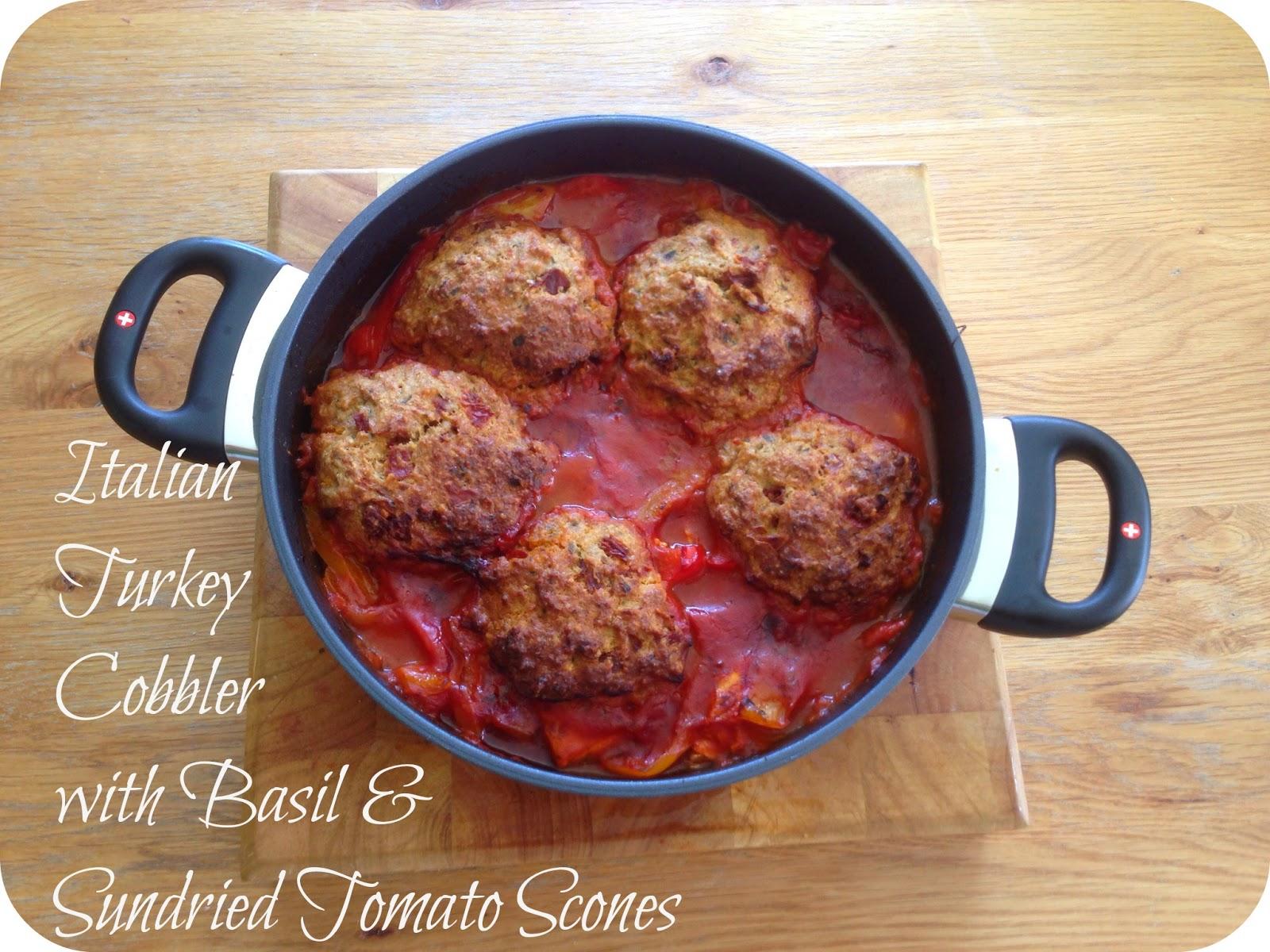 Italian Turkey Cobbler with Basil & Sundried Tomato Scones ...