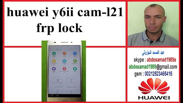 FRP lock Huawei Y6ii cam-l21 frp reset Bypass Google Account