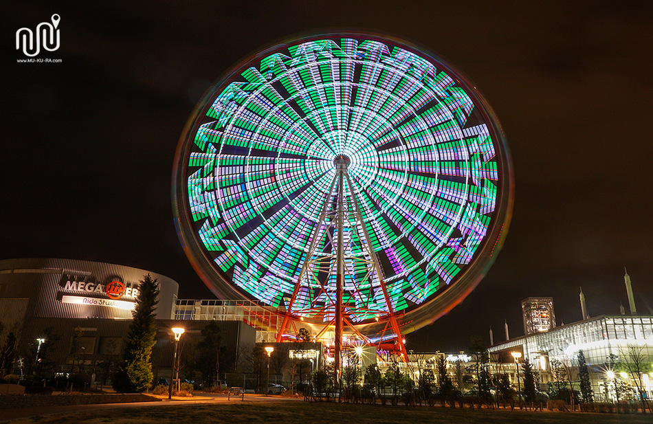ชิงช้าสวรรค์ Ferris Wheel ยามค่ำคืน
