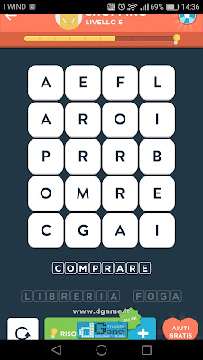 WordBrain 2 soluzioni: Categoria Shopping (4X5) Livello 5