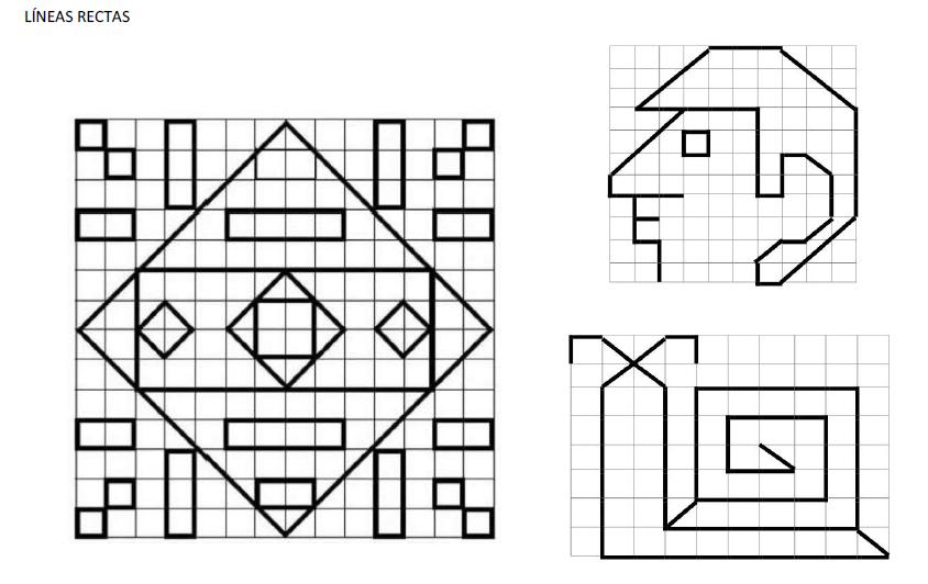 Tizas de colores: Dibujar en cuadrícula.