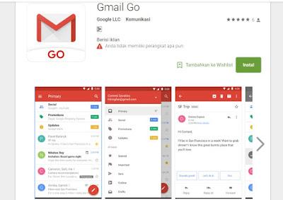 Aplikasi Gmail Go Ringan dan Bebas Spam