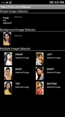 Rakul Preet 3D live Wallpaper For Android Mobile Phone