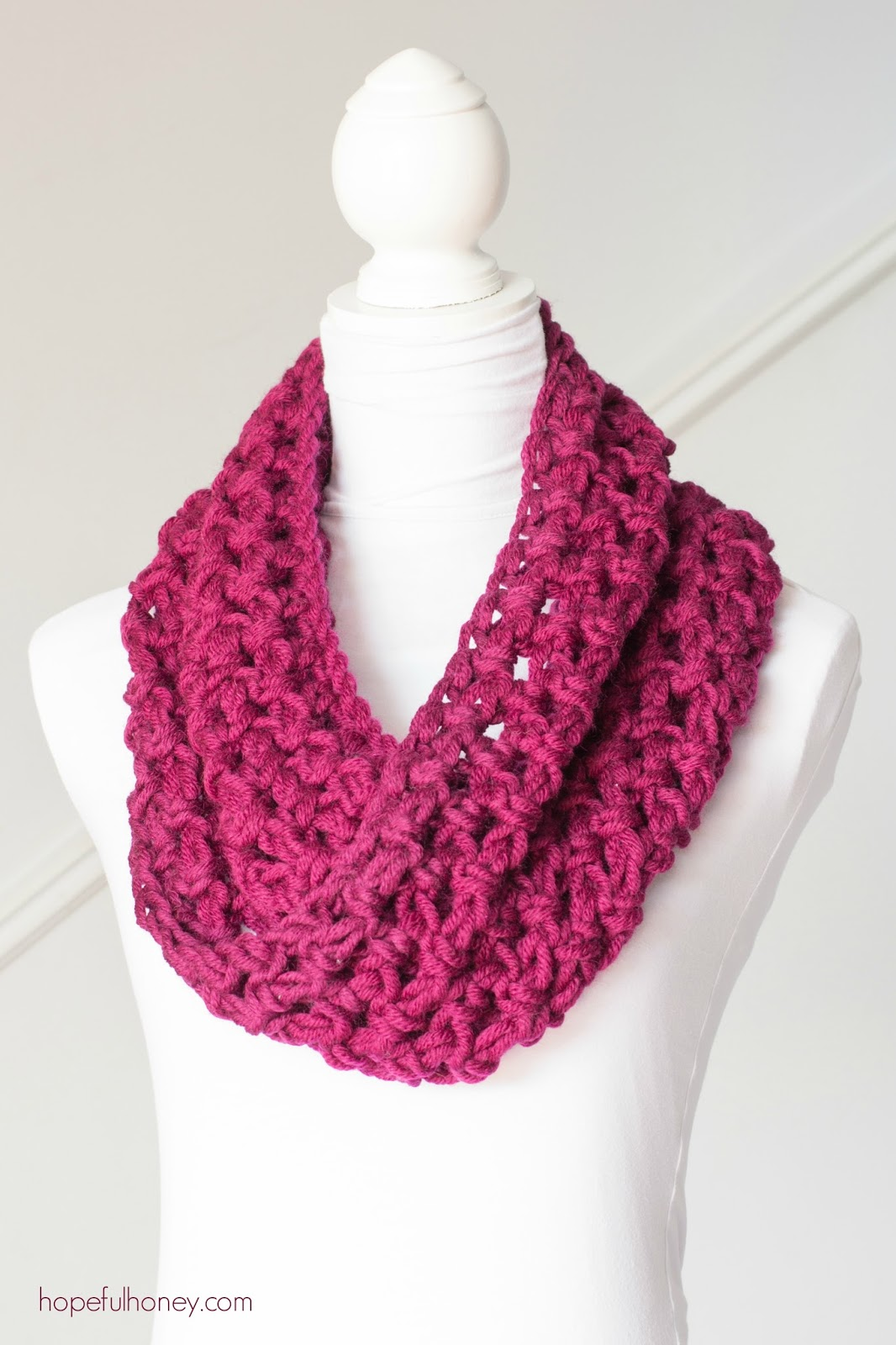 Basic Beginner Crochet Patterns : Hopeful Honey Craft, Crochet, Create: Basic Chunky Cowl ...
