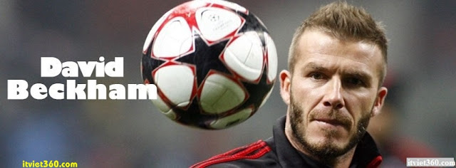 Ảnh bìa Facebook bóng đá - Cover FB Football timeline, David Beckham