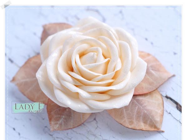 Foamiran Vintage Rose