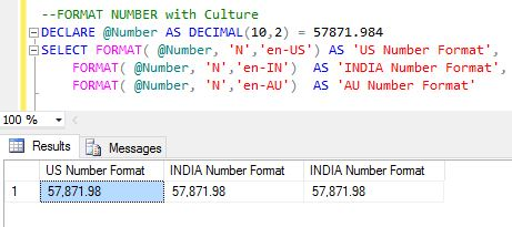 How to use FORMAT() function in Sql Server - Angular