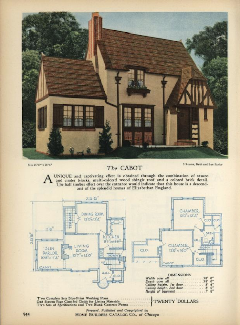 Home Builders lookalike to Sears Barrington Cabot model 1928 from Archive.org