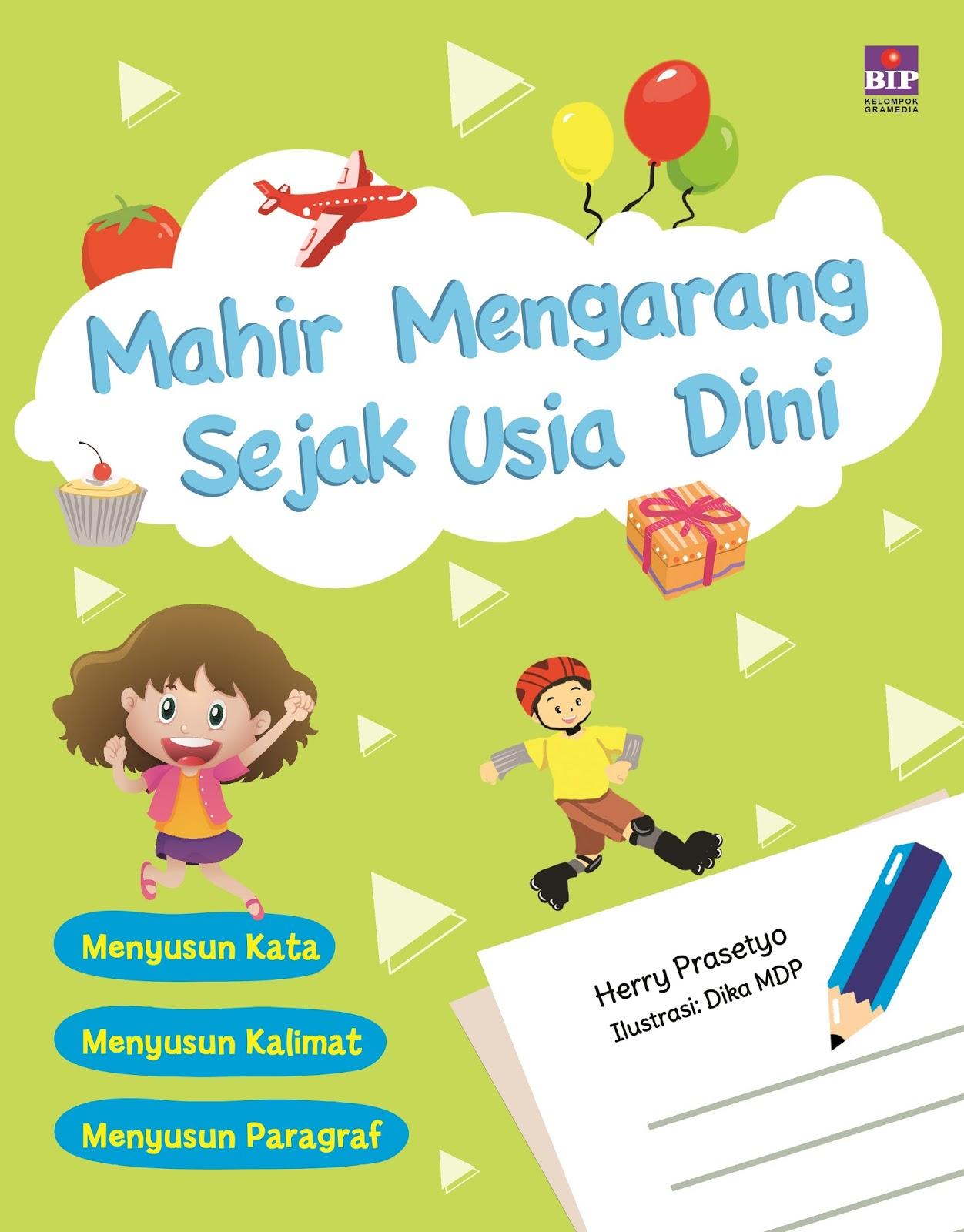 Buku ini menitikberatkan pada penggalian ide anak agar mudah belajar mengarang Anak juga dirangsang untuk kreatif dan memberdayakan kemampuan otaknya agar