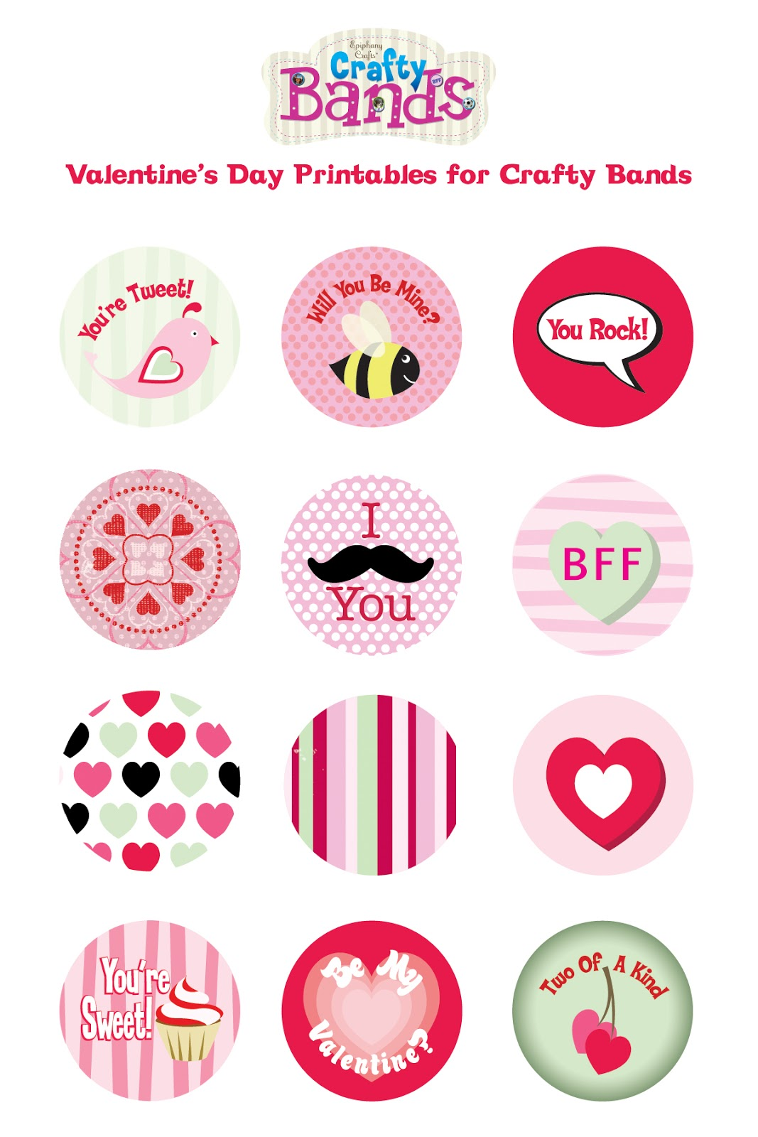 Craftybandsblog Crafty Bands Valentine Printables