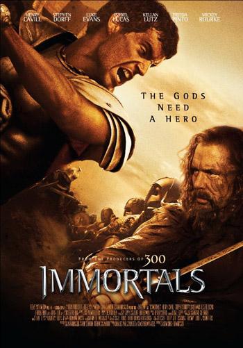 Immortals 2011 Dual Audio ORG Hindi BluRay 480p 400MB ESubs poster