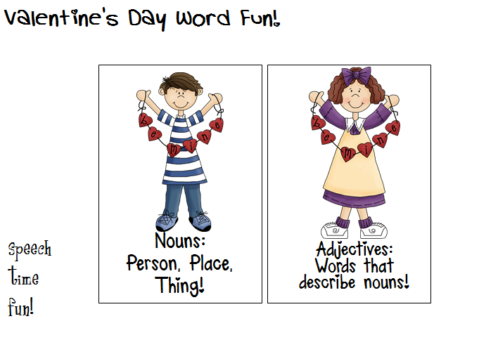 speech time fun valentine 39 s day word fun. Black Bedroom Furniture Sets. Home Design Ideas