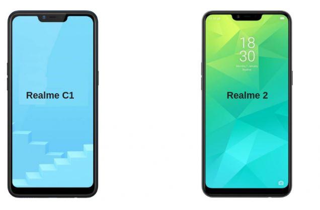 Realme C1 VS Realme 2 Perbandingan Spesifikasi dan Harga