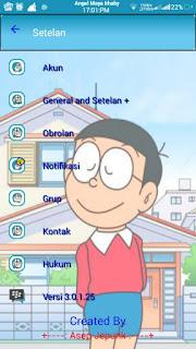 BBM Doraemon free stiker