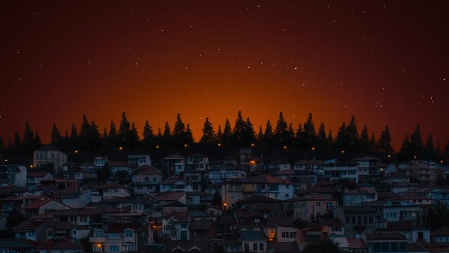 Night, Evening, Houses, Scenery, 4K, #6.923