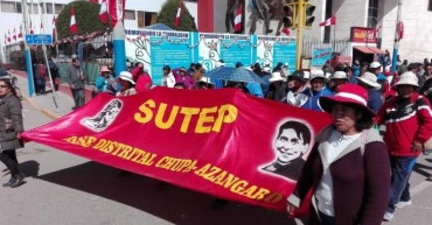 SUTEP regional Puno alista huelga indefinida