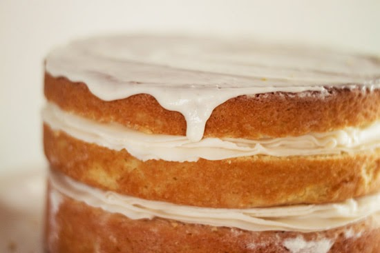 Cake Recipes With Glaze Icing: Strawberry Chic: Lemon Glaze & Buttercream Frosting