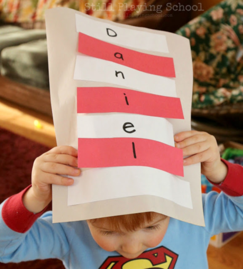 Dr Seuss Activities for Toddlers - Cat in the hat name activity