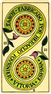 Tarot de Marsella  - Dos de Oros