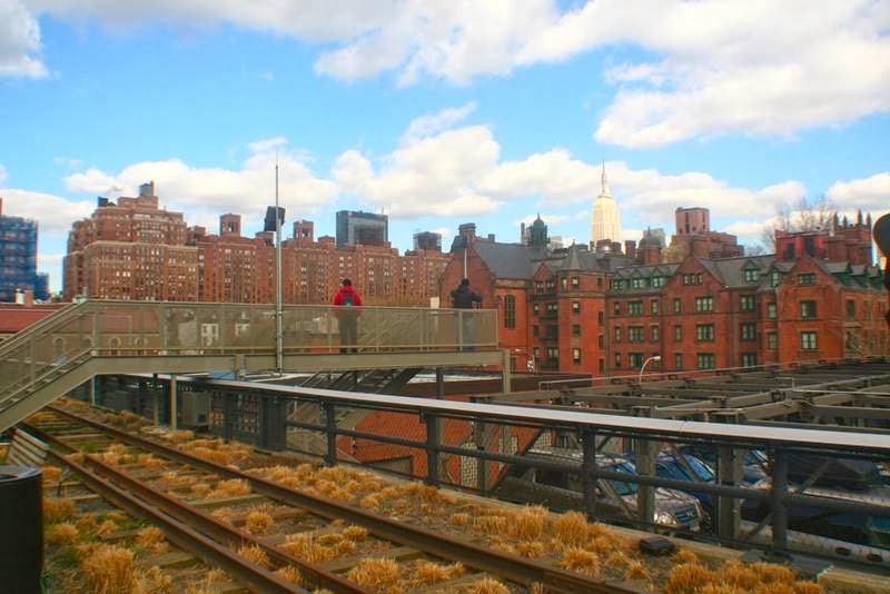 Extra stairs and platform of High Line Park, New York