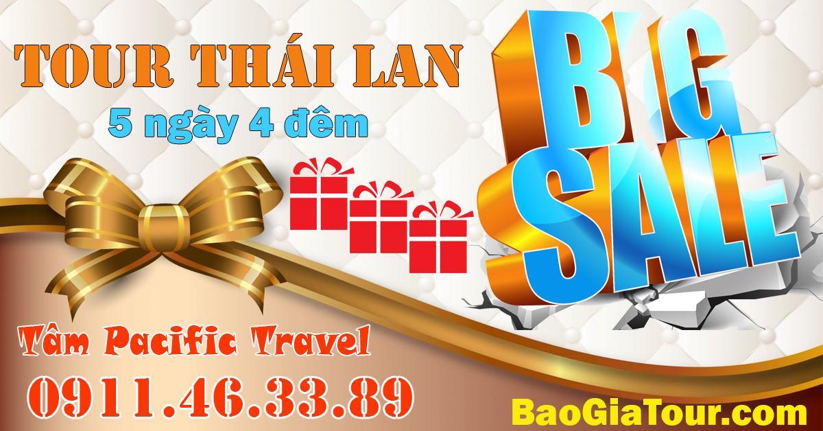 Báo giá tour Thái Lan hè 2018 giá hấp dẫn khách sạn 3 sao