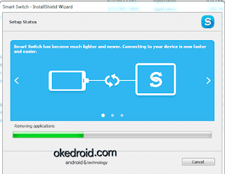 Proses install Smart Switch Samsung