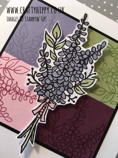 Check out the Lots of Lavender stamp set by Stampin' Up! which is free when you spend £45 on Stampin' Up! products during Sale-A-Bration.