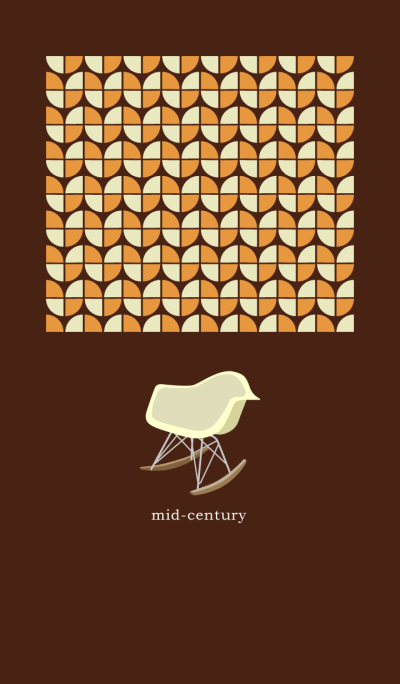 mid-century brown