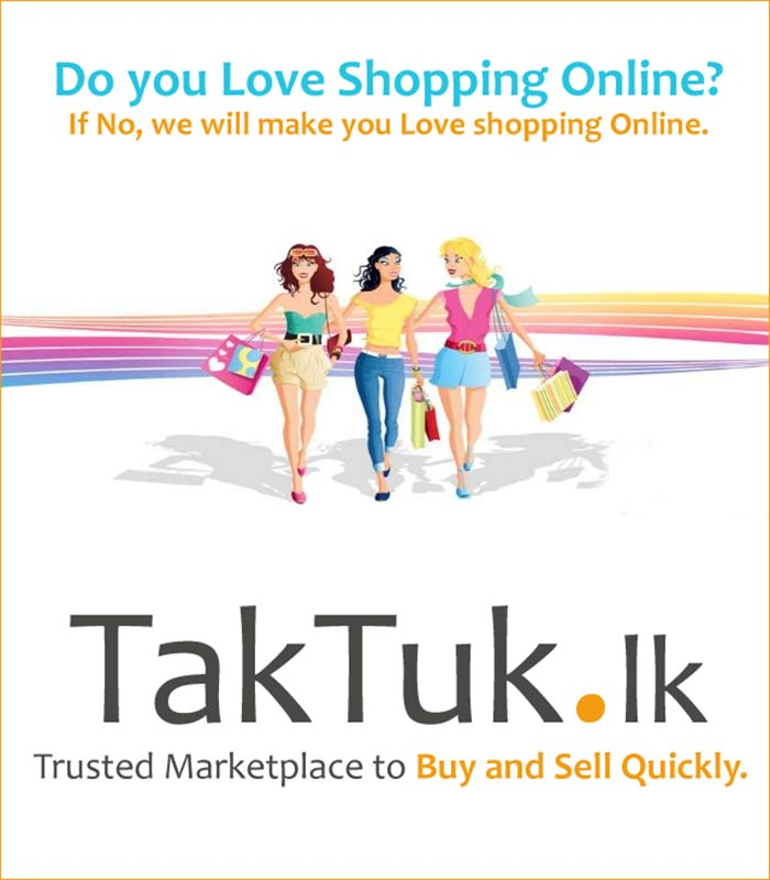 TakTuk.lk is a website where you can buy, sell and rent almost everything. It's completely free to post a classified advertisement on TakTuk.lk, and it takes you less than 2 minutes. You can sign up for a free membership and post ads easily every time.  TakTuk.lk is a fast growing classified web site in Sri Lanka, that's why it easy to find exactly what you are looking for. So if you're looking for a car, mobile phone, house, computer or maybe a pet, you will find the best offers on TakTuk.lk.  With TakTuk.lk you can buy, sell and rent items in more than 50 different categories. We also carefully review all ads that are being published, to make sure the quality is up to our standards