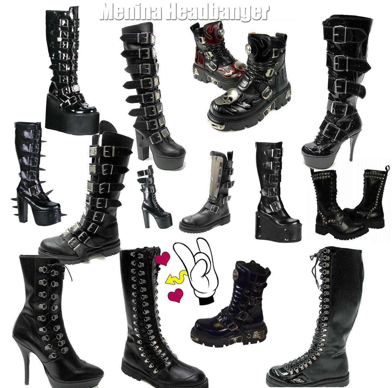 7b880f6f20 Sapatos  Botas e Coturnos no Rock e Heavy Metal - Menina Headbanger