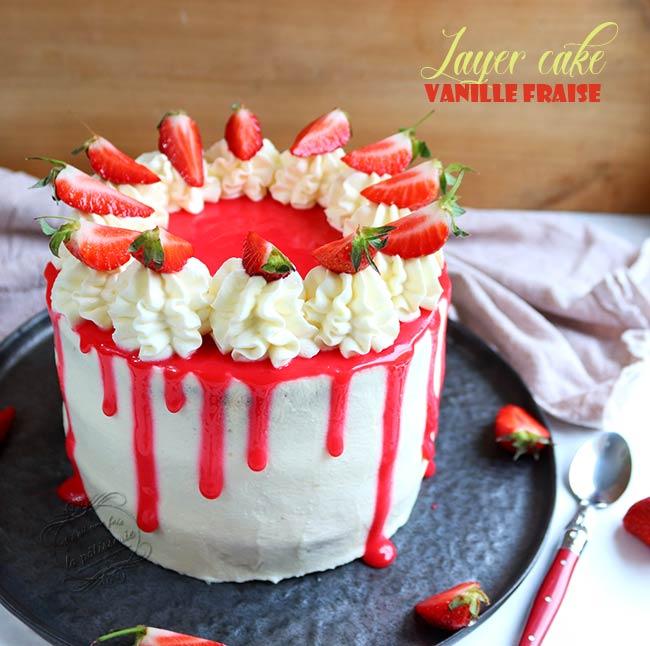 gateau fraise recette