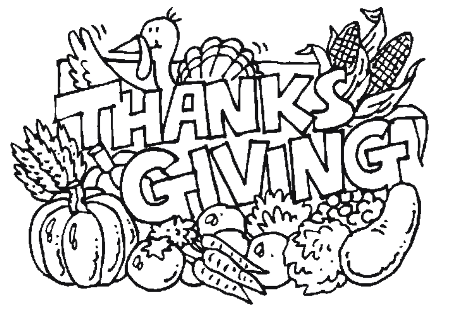 kaboose coloring pages thanksgiving meal - photo #40