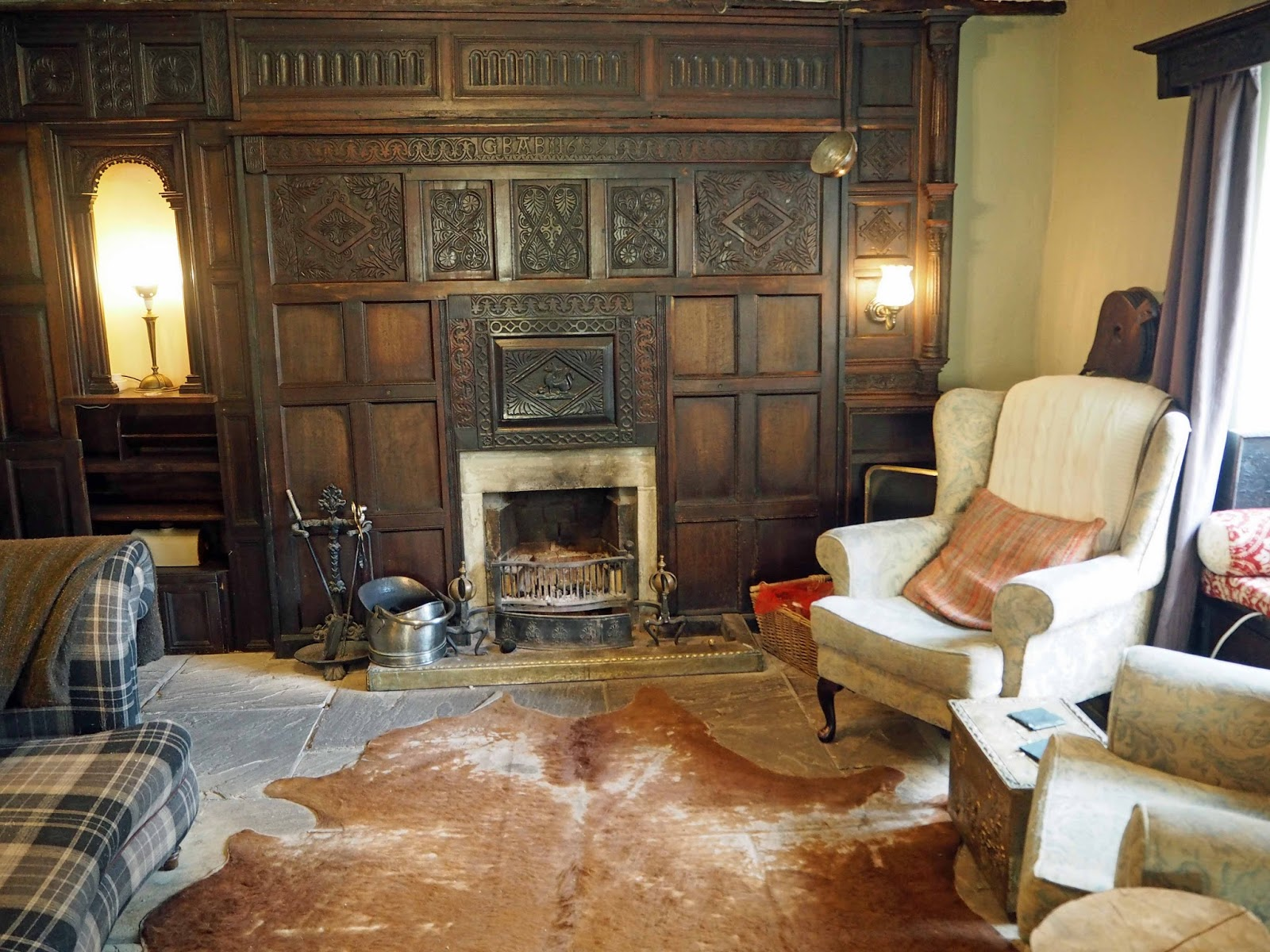 A review of Beck Hall Hotel and Bistro, Malham, Yorkshire Dales.The snug at Beck Hall