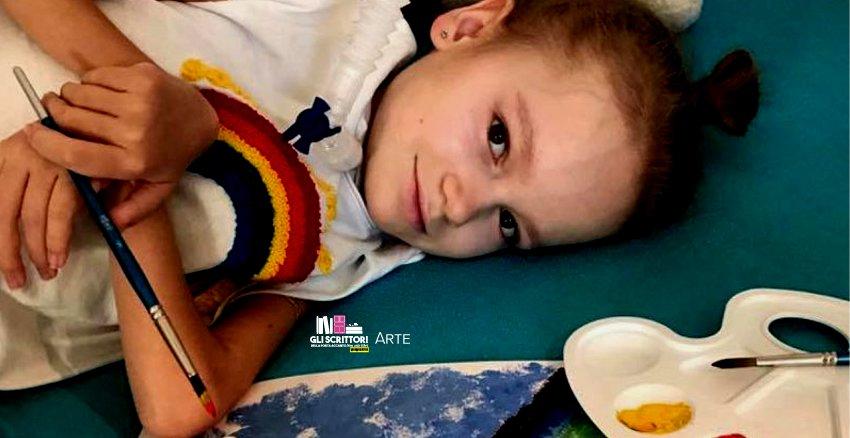 Ekaterina, la piccola pittrice affetta da distrofia muscolare - Arte