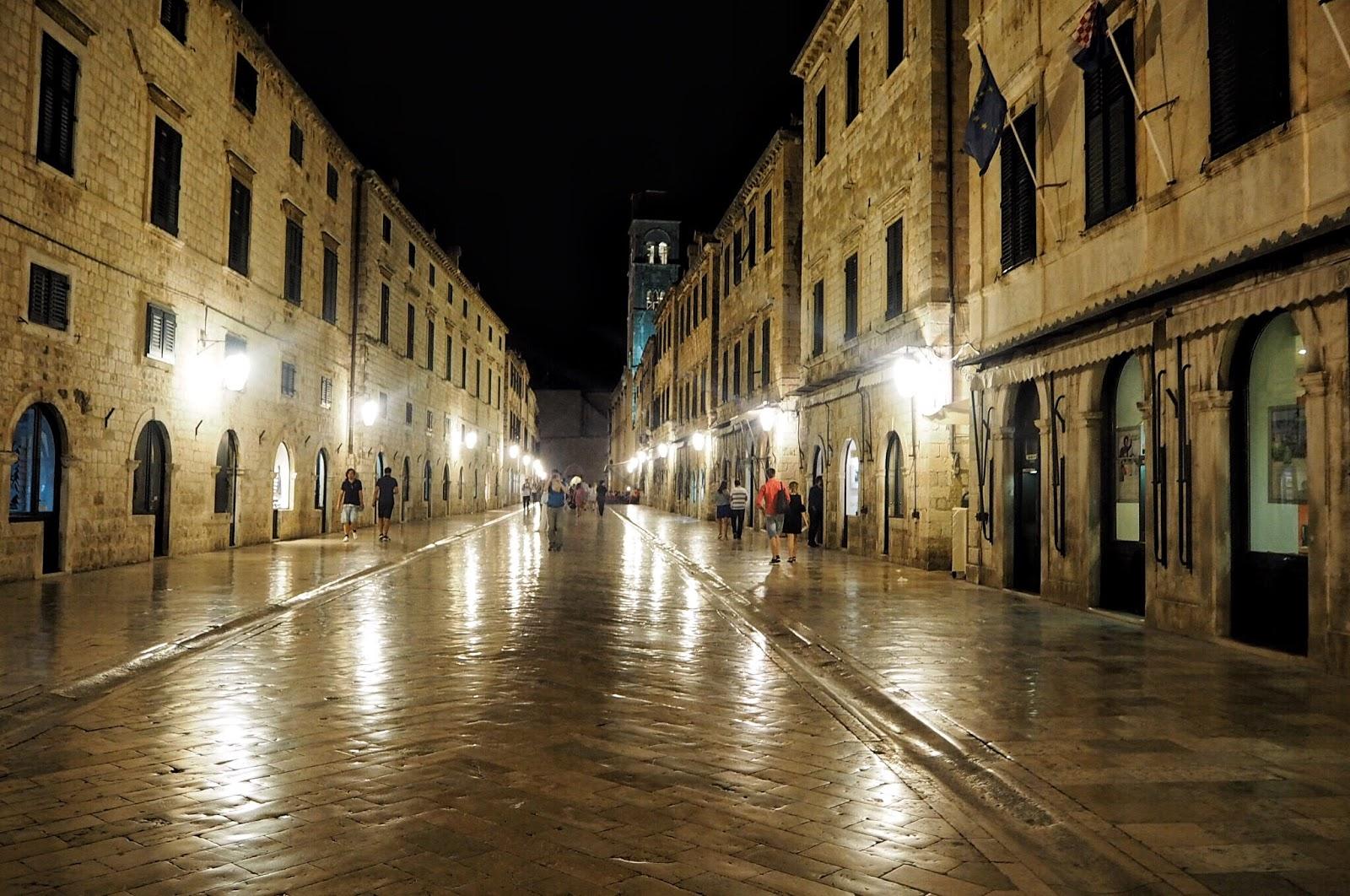 Dubrovnik old city at dusk