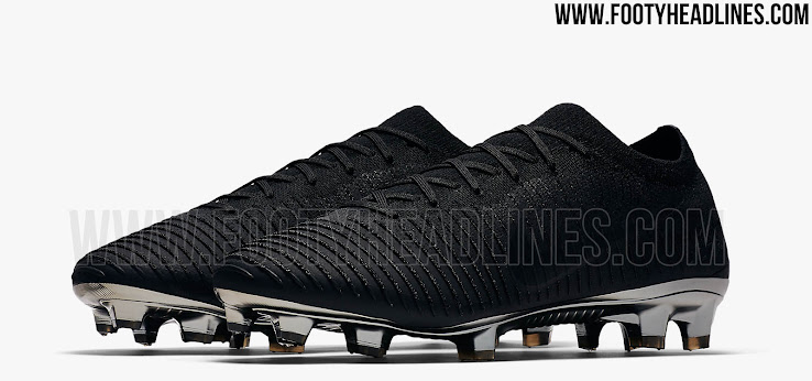best sneakers 8d274 ca4fa ... Black   Silver Metallic Nike Flyknit Ultra soccer boots, together with  the second launch paint job, the Black and Gold Nike Flyknit Ultra edition,  ...