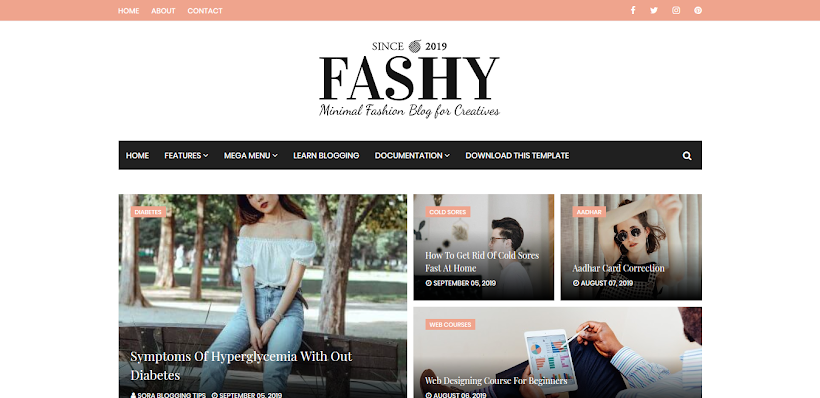 Fashy Free Blogger Template