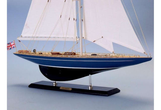 Velsheda Woden Sailboat Model