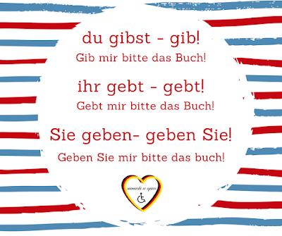 Niemiecki w opiece - Tryb rozkazujący w języku niemieckim - niemiecki dla opiekunek