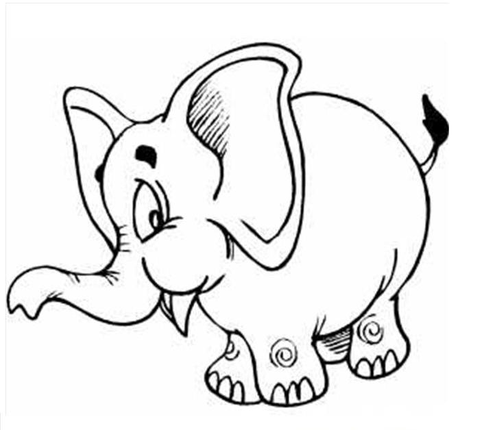 elephant coloring pages for preschool - photo#19