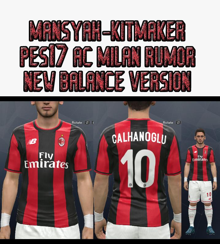 PES 2017 AC Milan Rumor Kit 18-19 by Mansyah