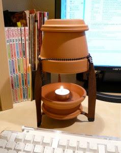 Cómo hacer una calefacción con maceta y vela